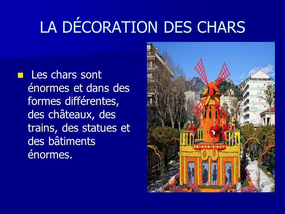 LA DÉCORATION DES CHARS