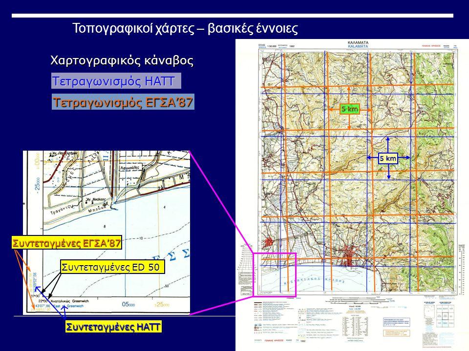 Τοπογραφικοί χάρτες – βασικές έννοιες