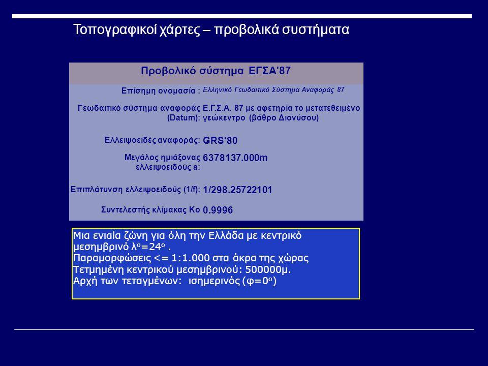 Προβολικό σύστημα ΕΓΣΑ 87