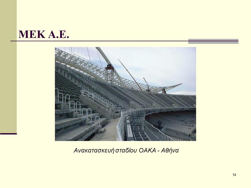 ΜΕΚ Α.Ε. Ανακατασκευή σταδίου ΟΑΚΑ - Αθήνα
