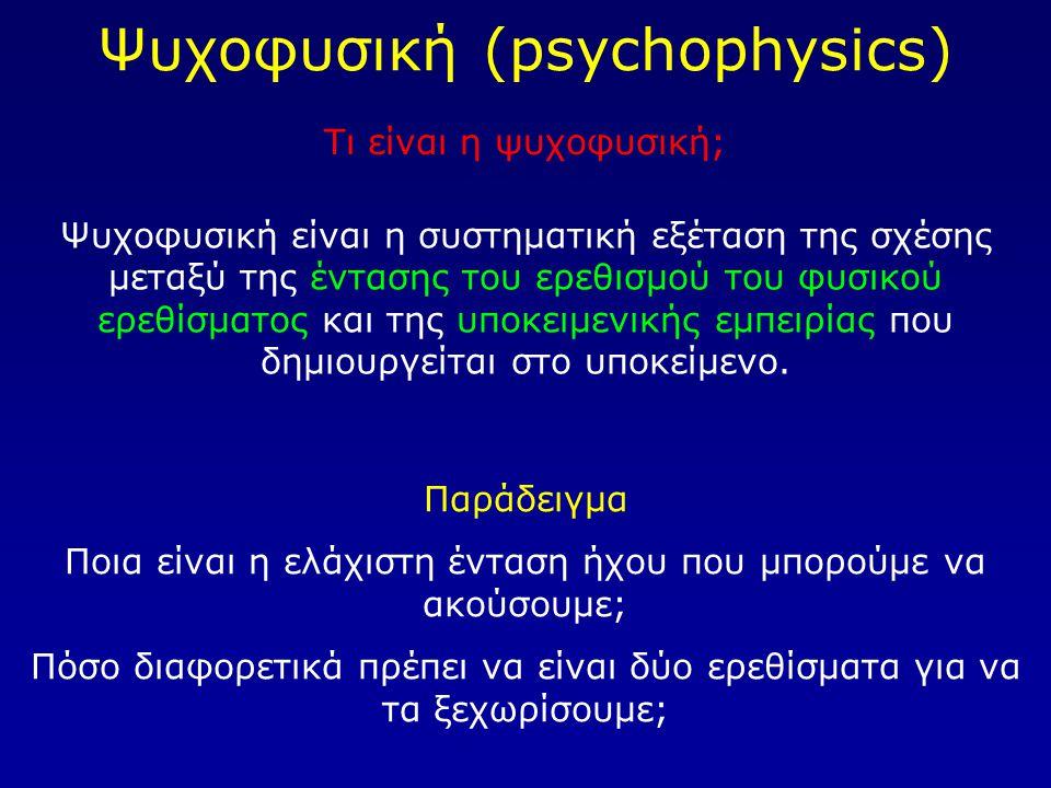 Ψυχοφυσική (psychophysics)