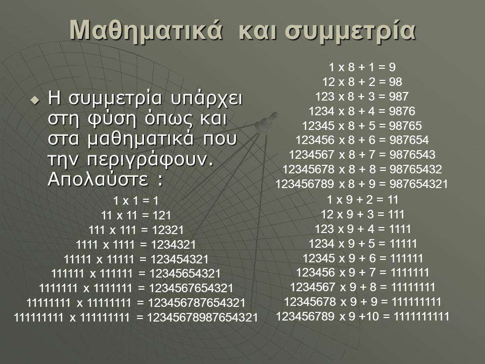Μαθηματικά και συμμετρία