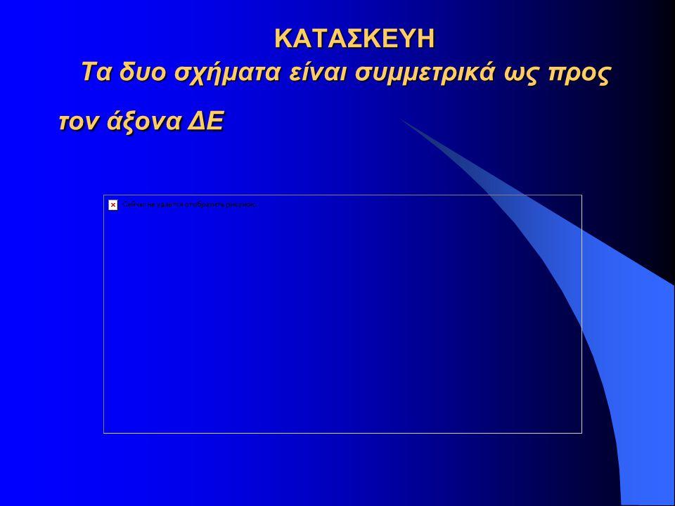 ΚΑΤΑΣΚΕΥΗ Τα δυο σχήματα είναι συμμετρικά ως προς τον άξονα ΔΕ