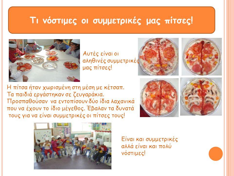 Τι νόστιμες οι συμμετρικές μας πίτσες!