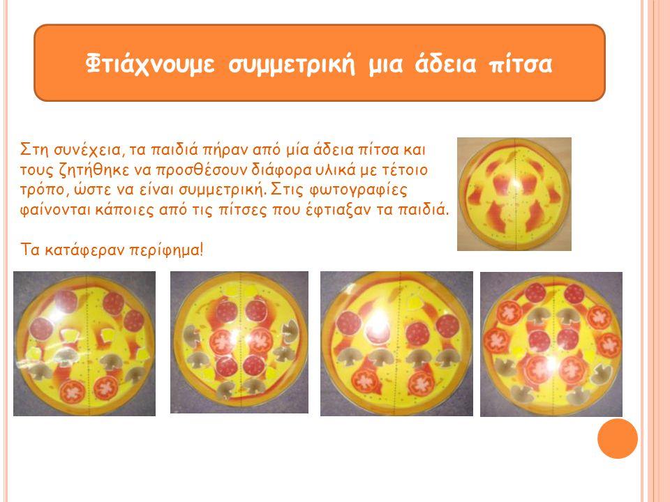 Φτιάχνουμε συμμετρική μια άδεια πίτσα