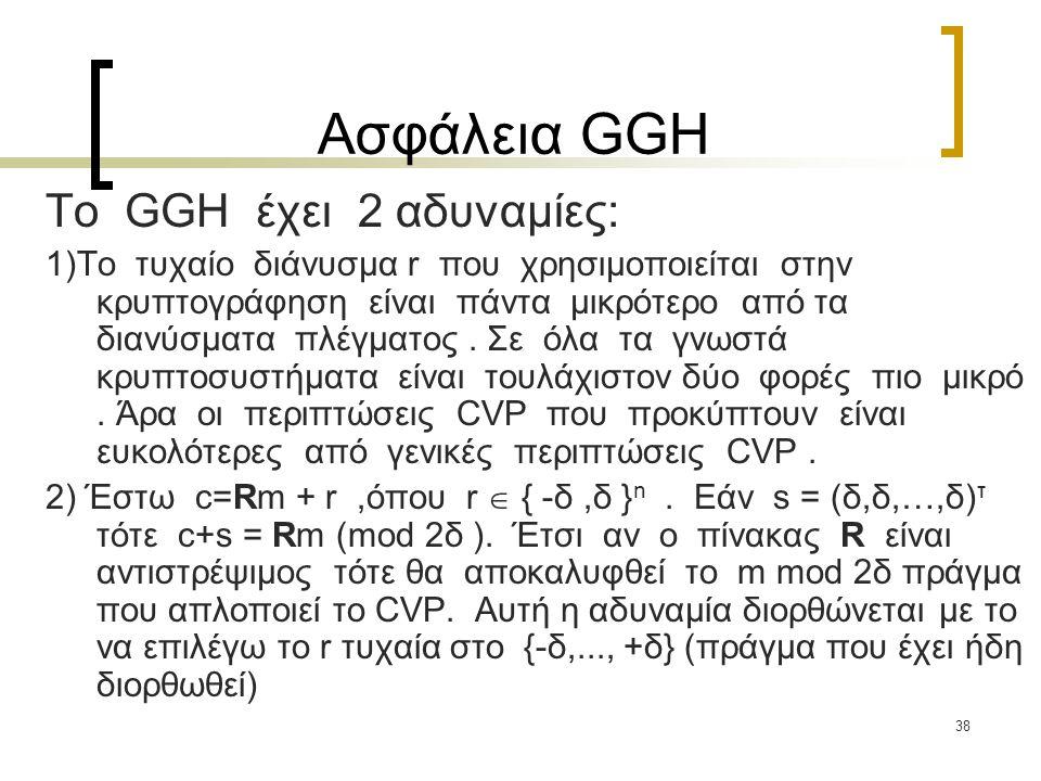 Ασφάλεια GGH To GGH έχει 2 αδυναμίες: