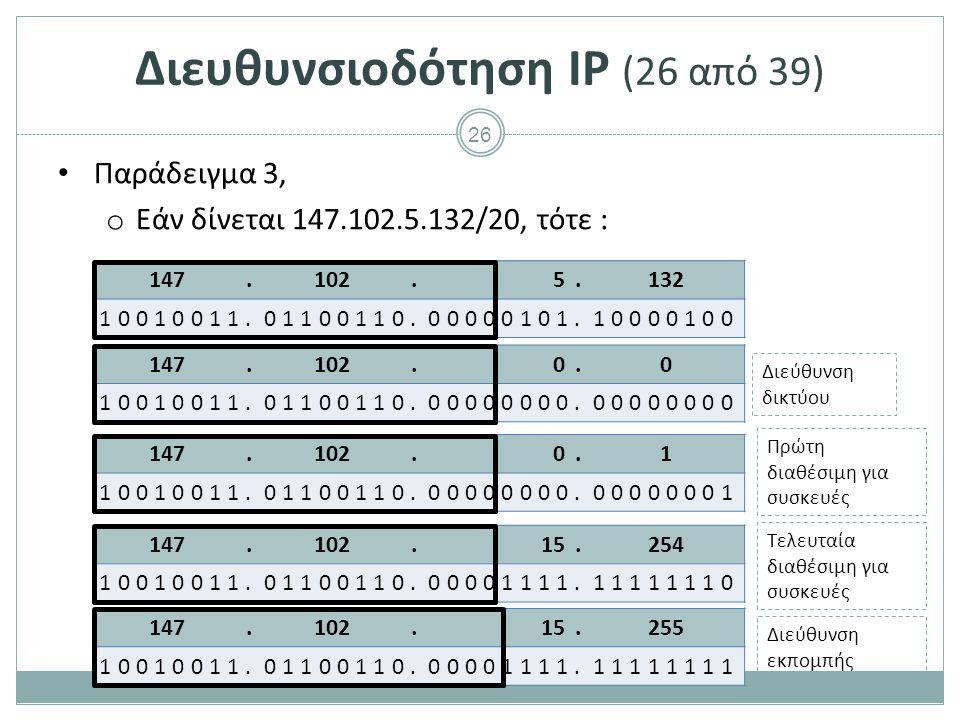 Διευθυνσιοδότηση IP (27 από 39)