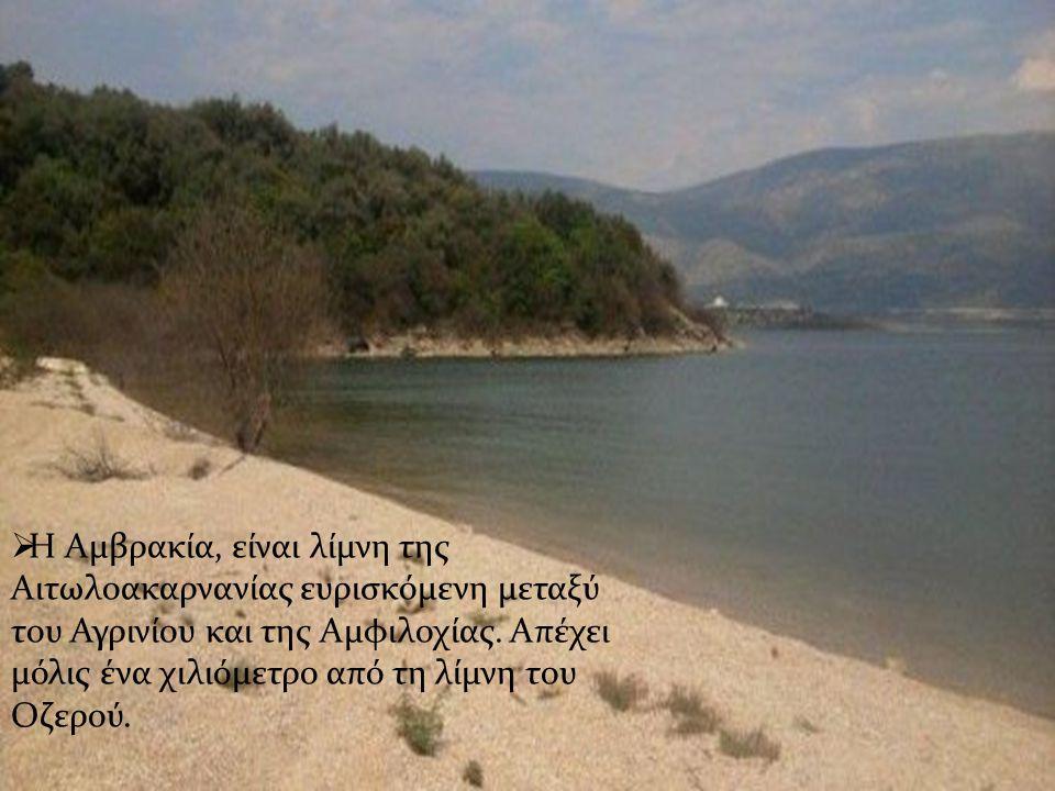 Η Αμβρακία, είναι λίμνη της Αιτωλοακαρνανίας ευρισκόμενη μεταξύ του Αγρινίου και της Αμφιλοχίας.