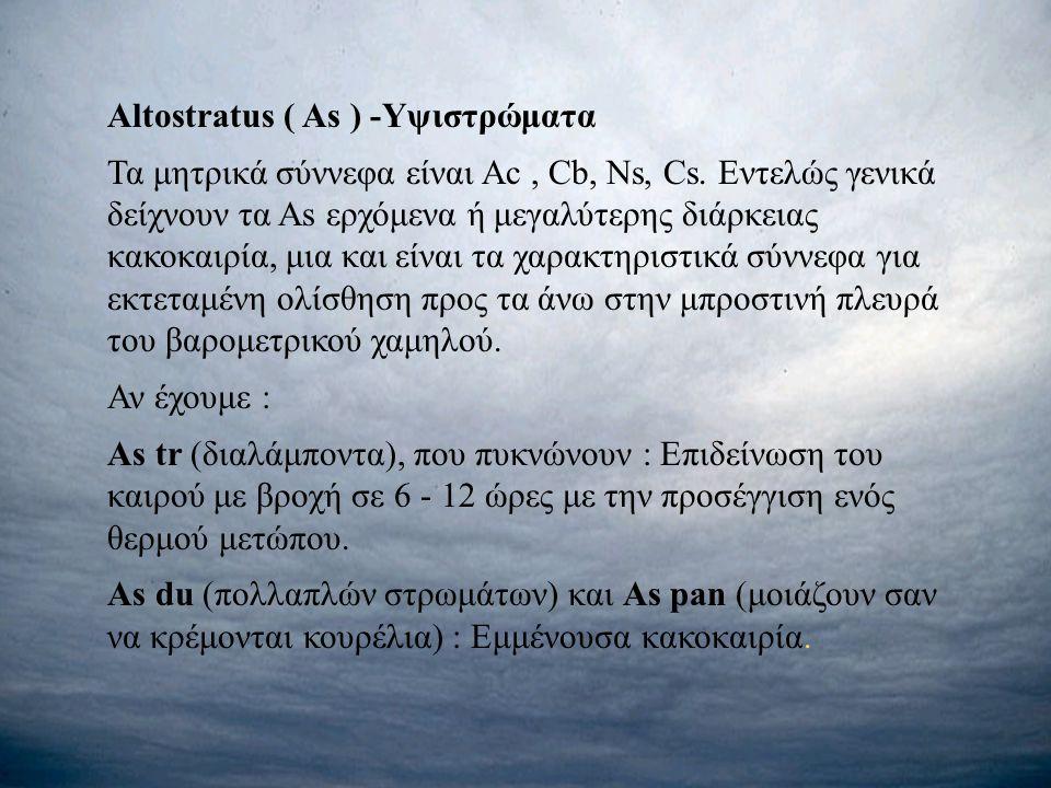 Altostratus ( As ) -Υψιστρώματα
