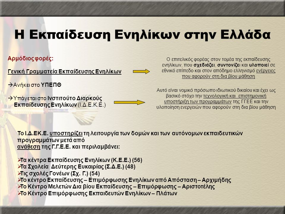 Η Εκπαίδευση Ενηλίκων στην Ελλάδα