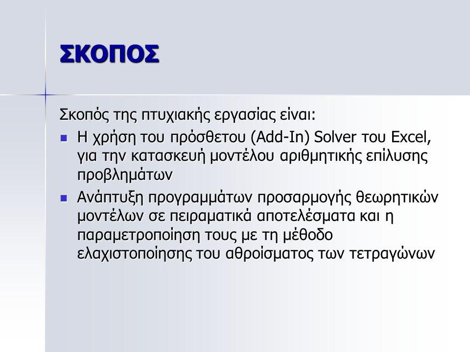 ΣΚΟΠΟΣ Σκοπός της πτυχιακής εργασίας είναι: