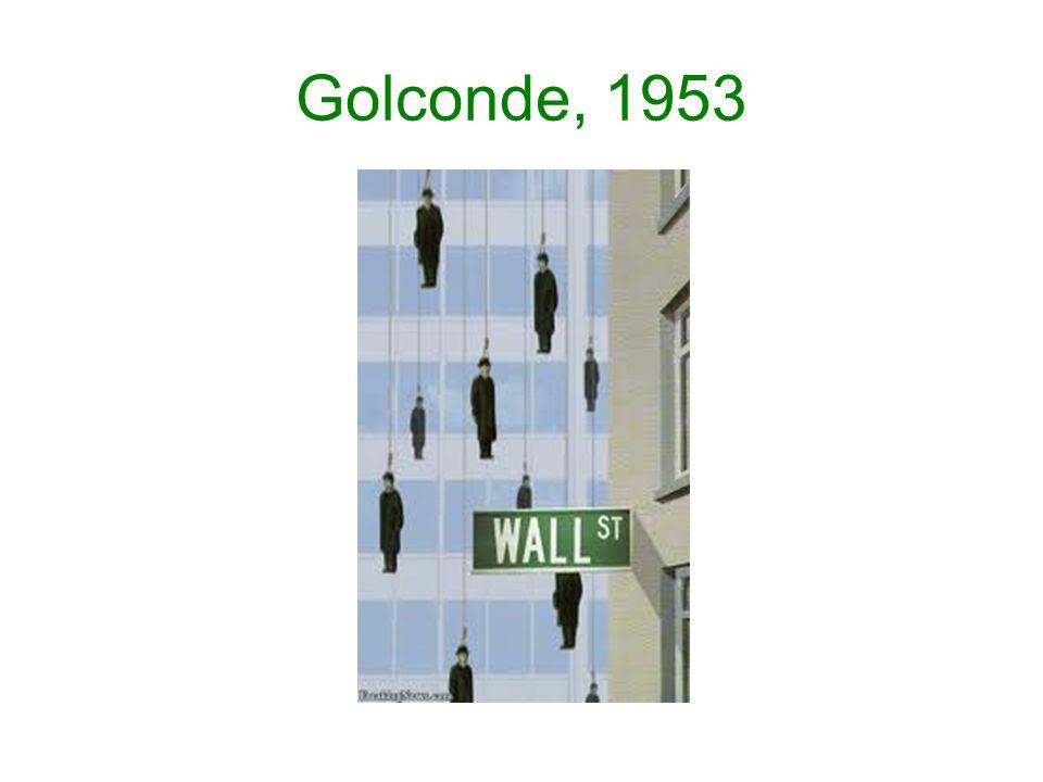 Golconde, 1953
