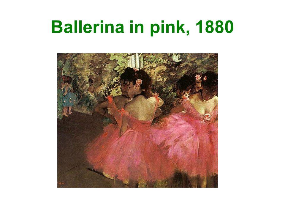 Ballerina in pink, 1880