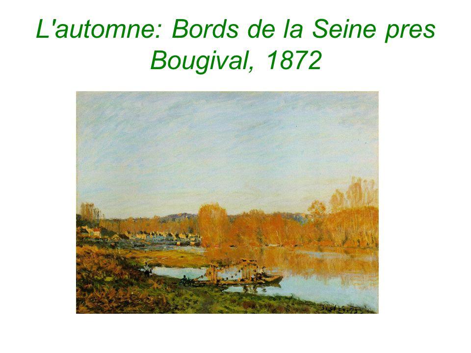 L automne: Bords de la Seine pres Bougival, 1872