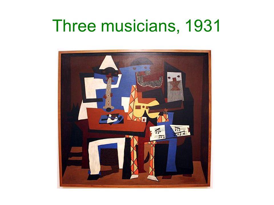 Three musicians, 1931