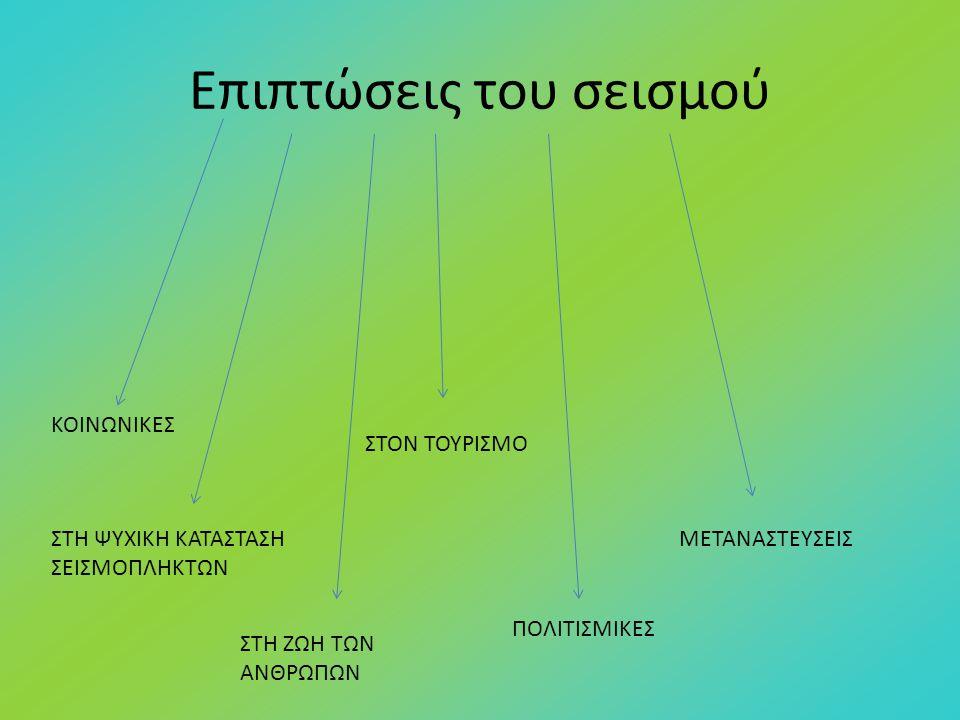 Επιπτώσεις του σεισμού