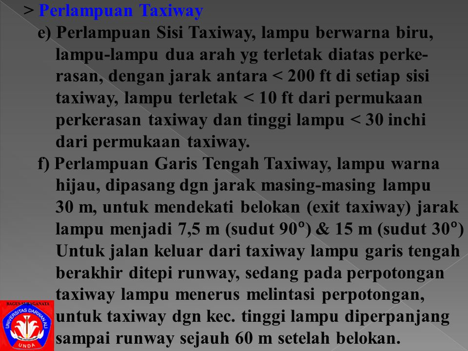 > Perlampuan Taxiway