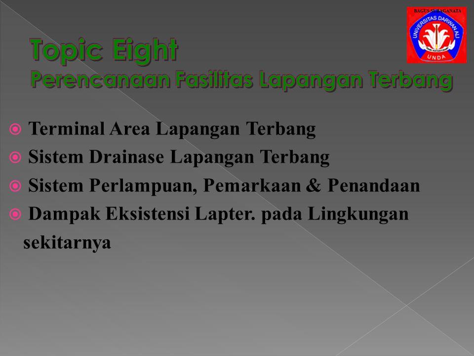 Topic Eight Perencanaan Fasilitas Lapangan Terbang