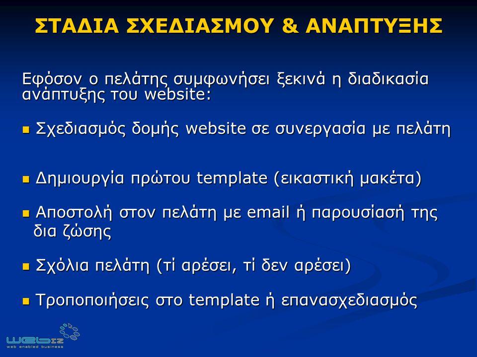 ΣΤΑΔΙΑ ΣΧΕΔΙΑΣΜΟΥ & ΑΝΑΠΤΥΞΗΣ