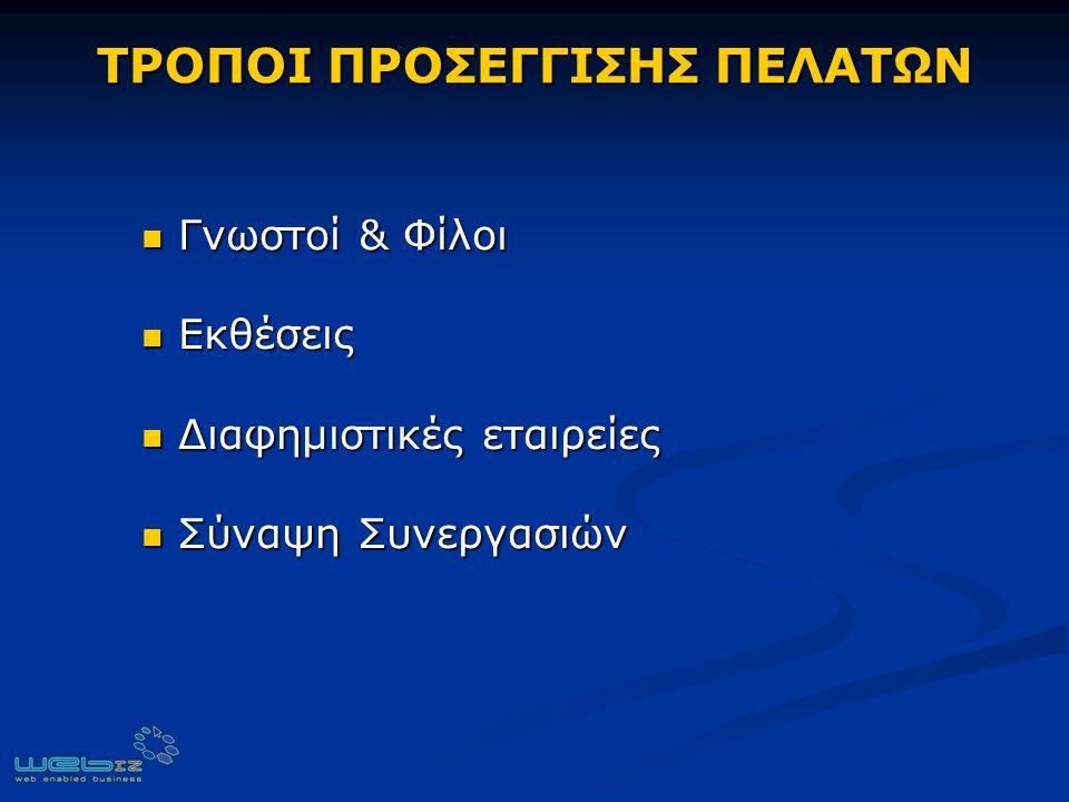 ΤΡΟΠΟΙ ΠΡΟΣΕΓΓΙΣΗΣ ΠΕΛΑΤΩΝ