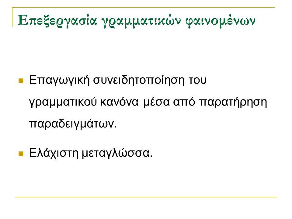 Επεξεργασία γραμματικών φαινομένων