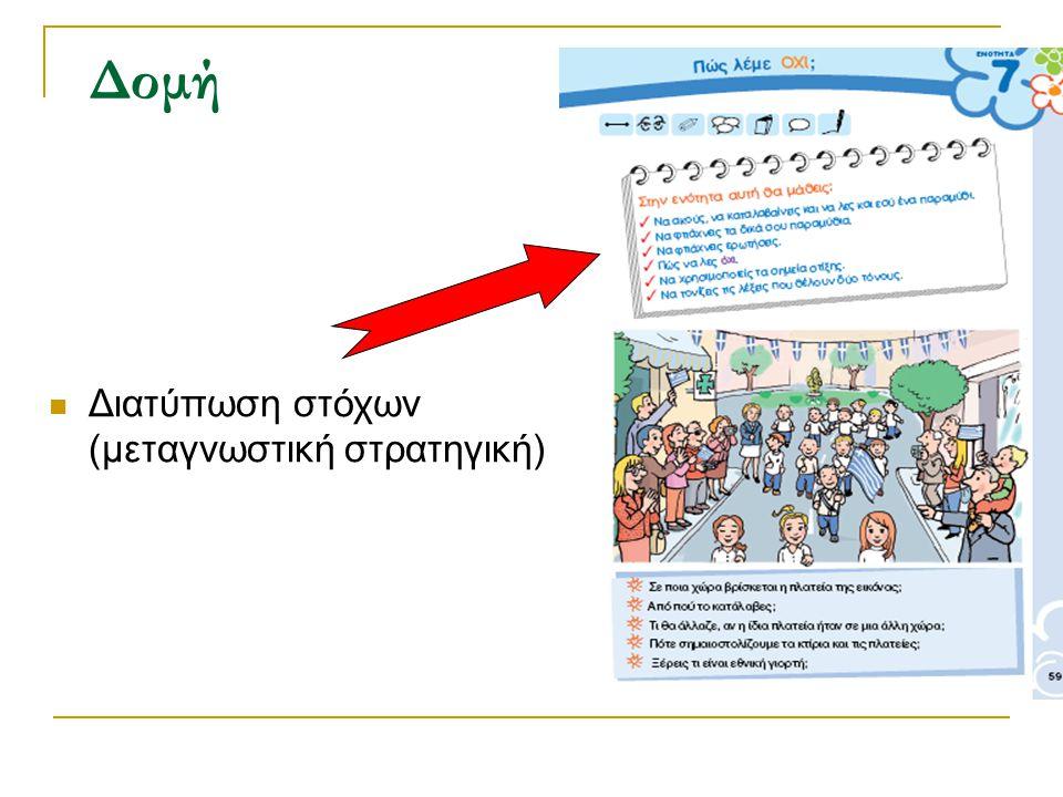 Δομή Διατύπωση στόχων (μεταγνωστική στρατηγική)