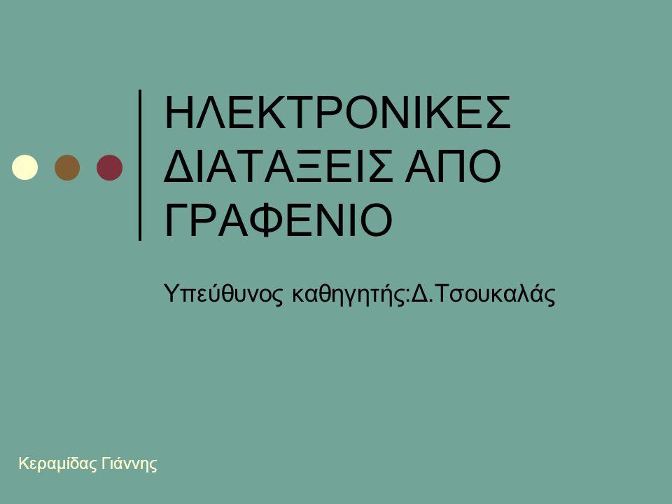 HΛΕΚΤΡΟΝΙΚΕΣ ΔΙΑΤΑΞΕΙΣ ΑΠΟ ΓΡΑΦΕΝΙΟ