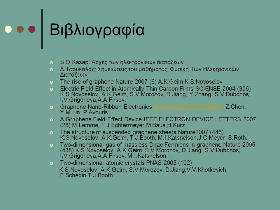 Βιβλιογραφία S.O.Kasap: Αρχές των ηλεκτρονικών διατάξεων