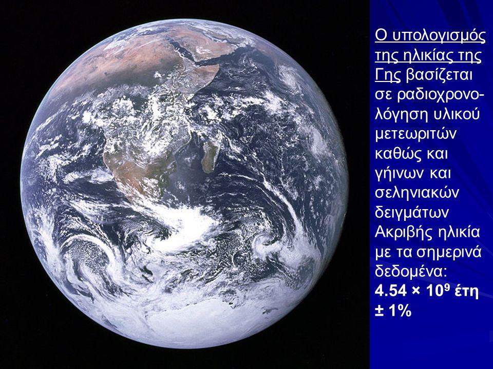 Ο υπολογισμός της ηλικίας της Γης βασίζεται σε ραδιοχρονο-λόγηση υλικού μετεωριτών καθώς και γήινων και σεληνιακών δειγμάτων