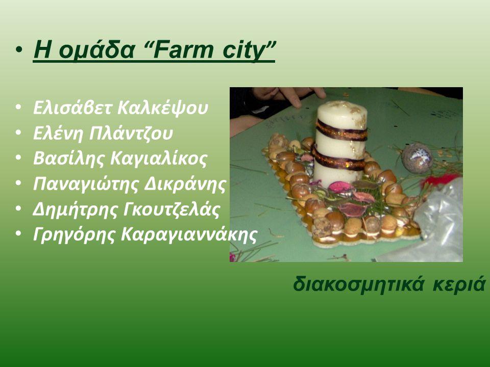 Η ομάδα Farm city Ελισάβετ Καλκέψου Ελένη Πλάντζου