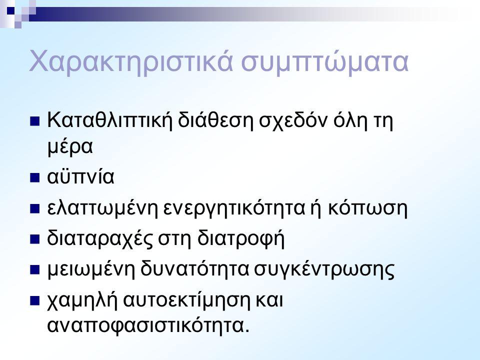 Χαρακτηριστικά συμπτώματα