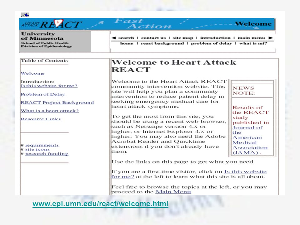 www.epi.umn.edu/react/welcome.html