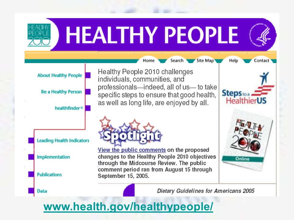 www.health.gov/healthypeople/