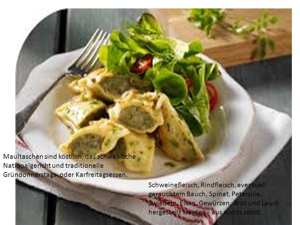 Maultaschen sind köstlich, das schwäbische Nationalgericht und traditionelle Gründonnerstags- oder Karfreitagsessen.