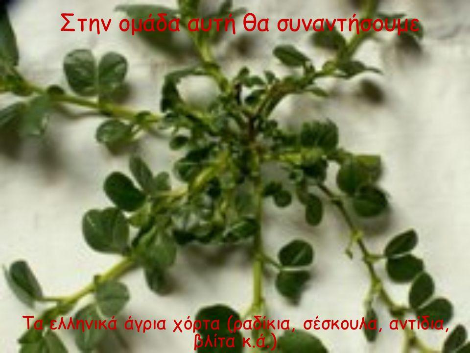Τα ελληνικά άγρια χόρτα (ραδίκια, σέσκουλα, αντίδια, βλίτα κ.ά.)