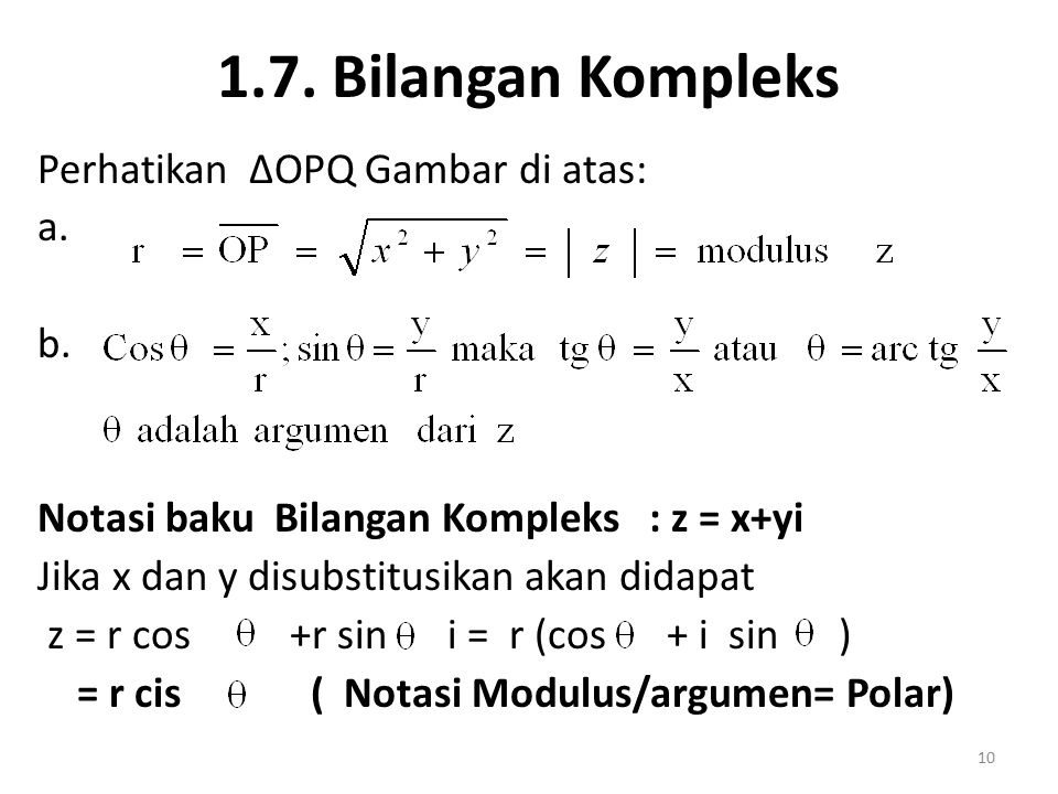 1.7. Bilangan Kompleks