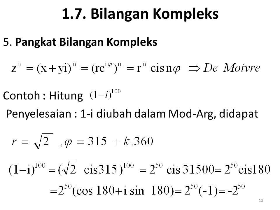 1.7. Bilangan Kompleks 5.