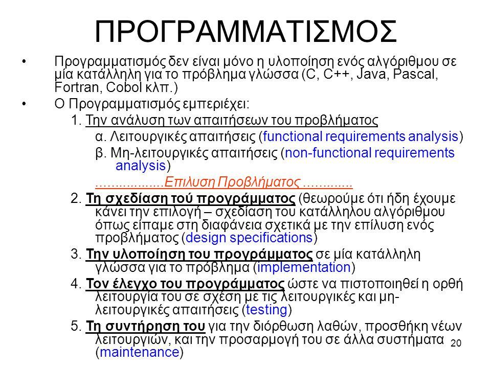 ΠΡΟΓΡΑΜΜΑΤΙΣΜΟΣ