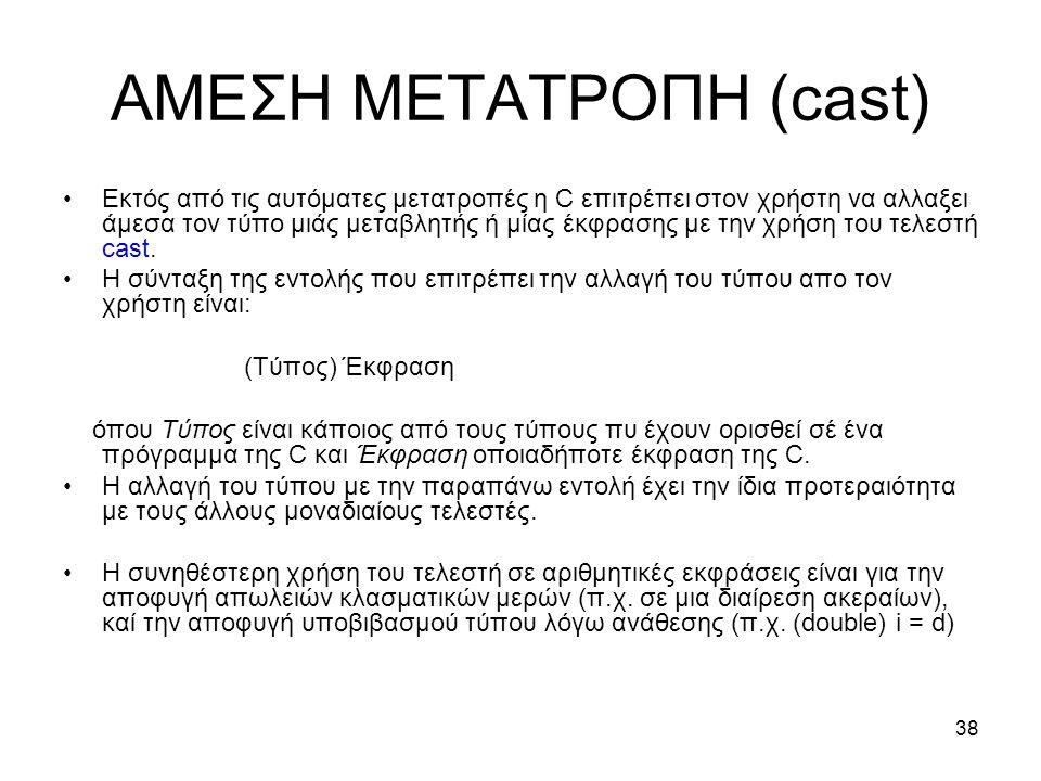 ΑΜΕΣΗ ΜΕΤΑΤΡΟΠΗ (cast)