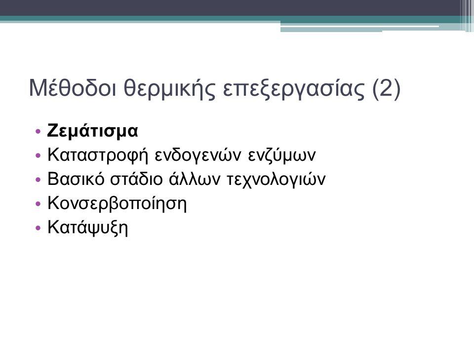 Μέθοδοι θερμικής επεξεργασίας (2)