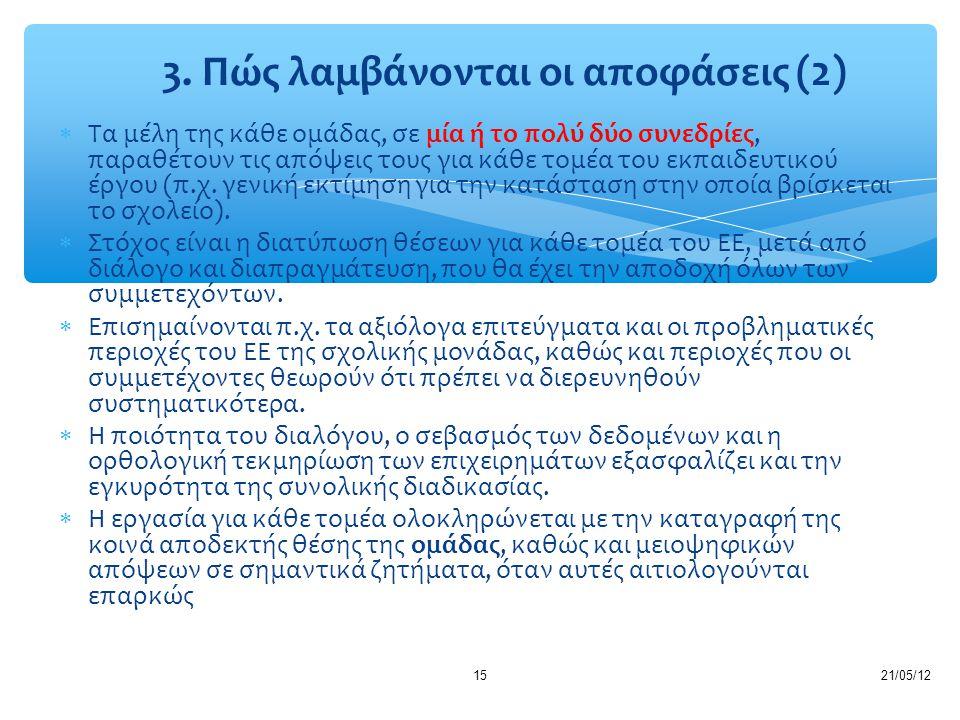 3. Πώς λαμβάνονται οι αποφάσεις (2)