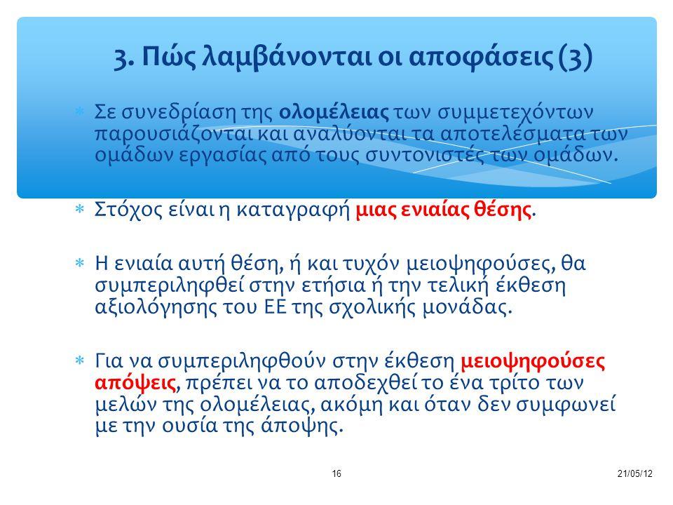 3. Πώς λαμβάνονται οι αποφάσεις (3)