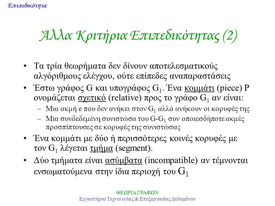Άλλα Κριτήρια Επιπεδικότητας (2)