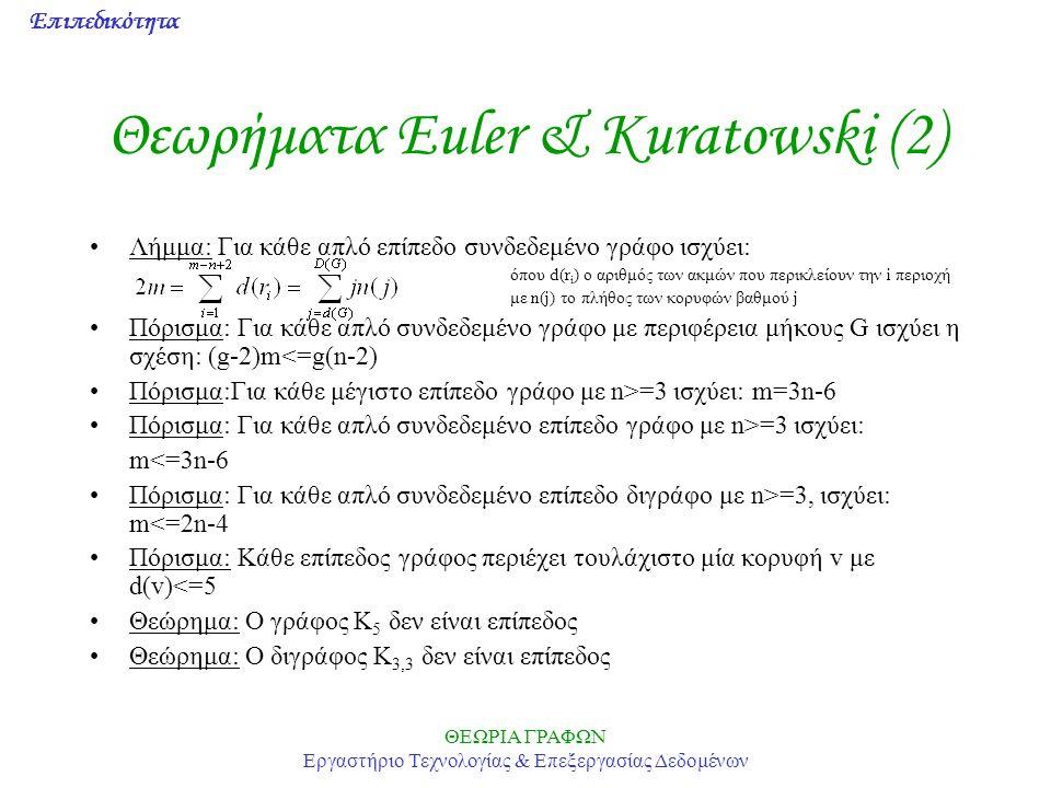Θεωρήματα Euler & Kuratowski (2)