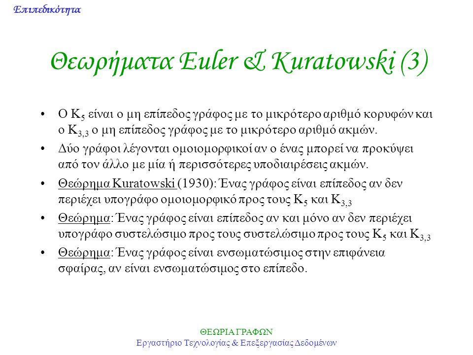 Θεωρήματα Euler & Kuratowski (3)