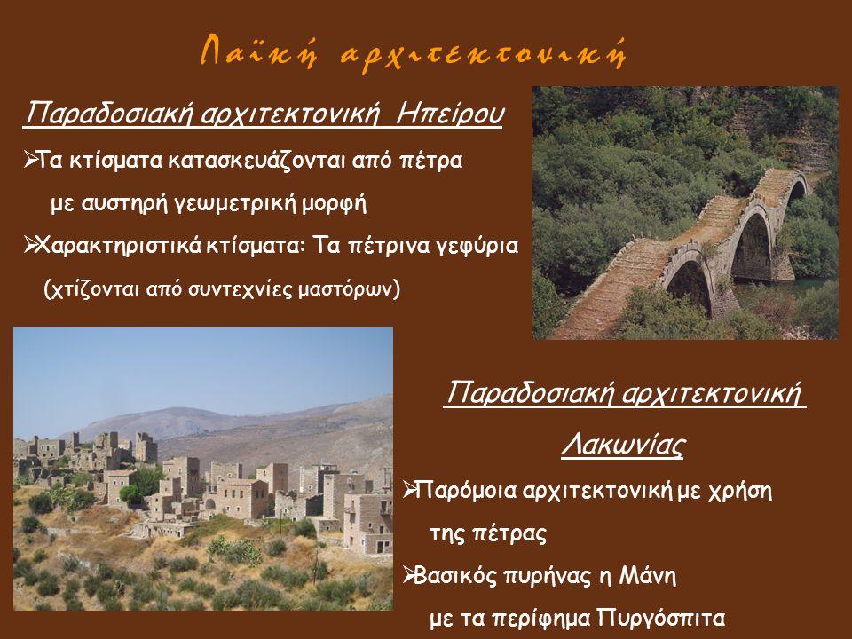 Λαϊκή αρχιτεκτονική Παραδοσιακή αρχιτεκτονική Ηπείρου