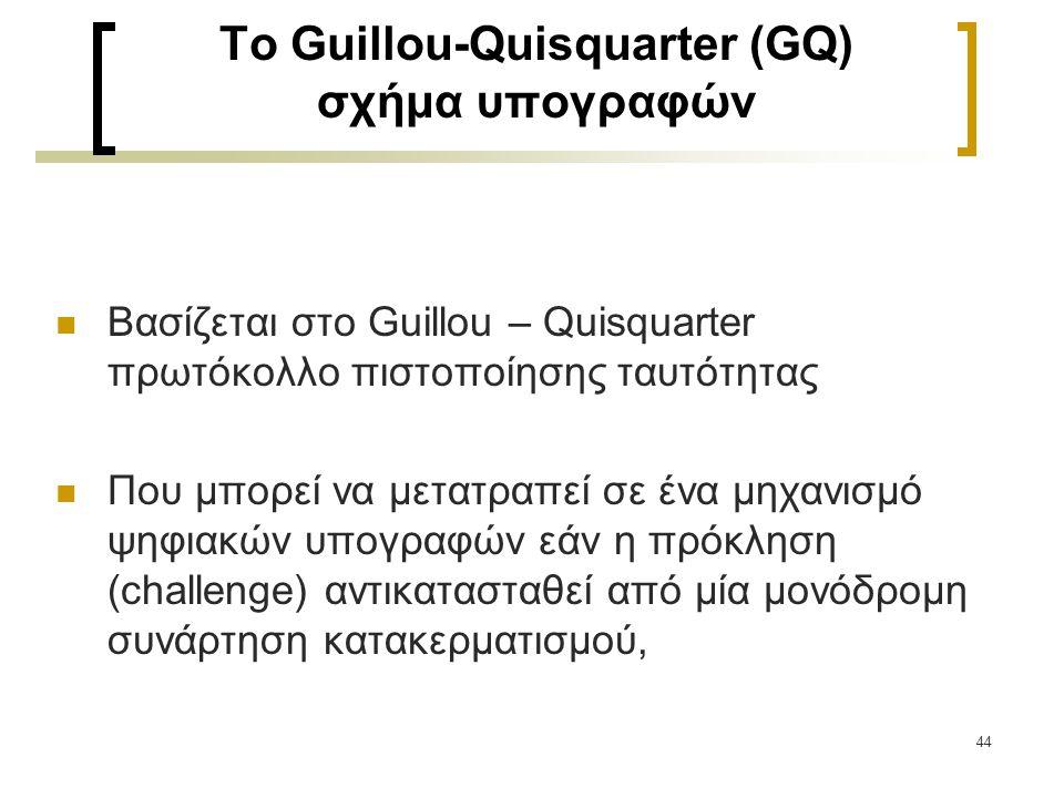 To Guillou-Quisquarter (GQ) σχήμα υπογραφών