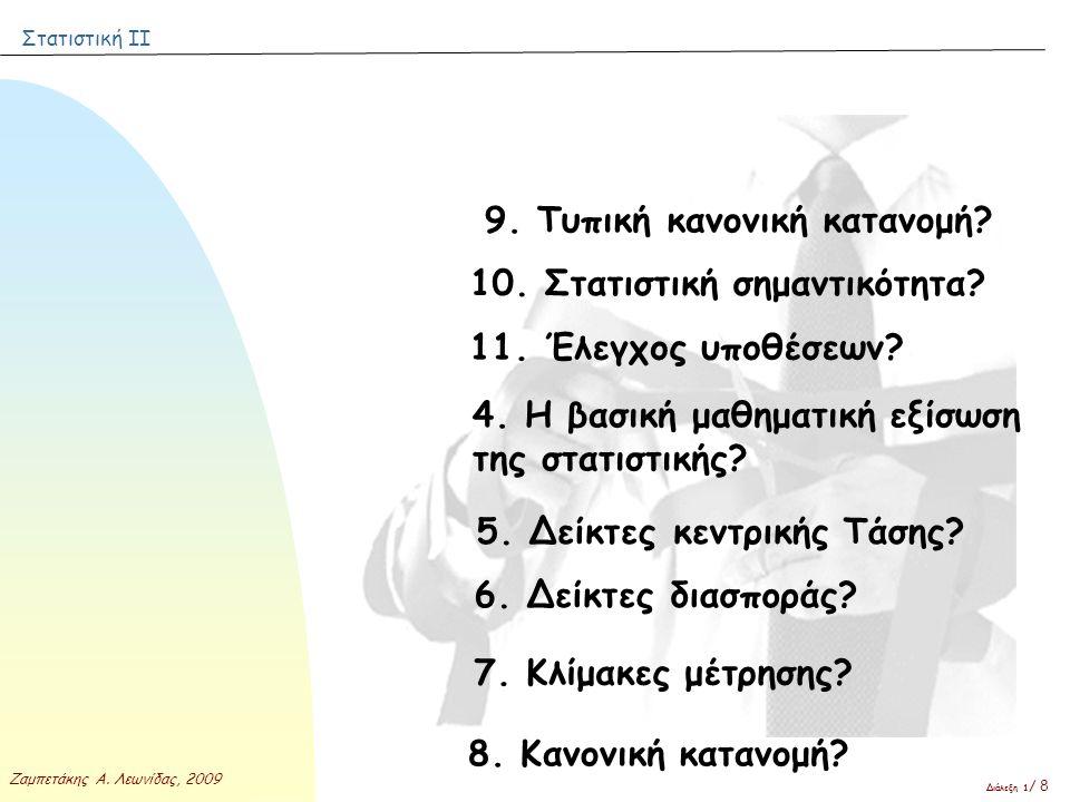 9. Τυπική κανονική κατανομή