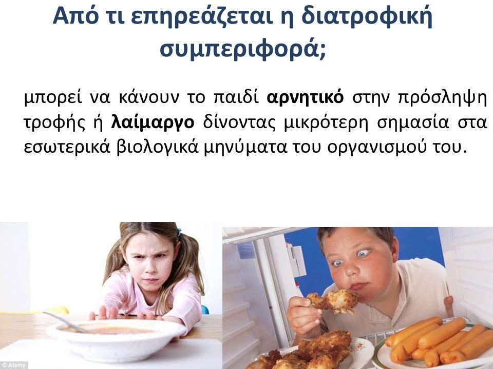 Από τι επηρεάζεται η διατροφική συμπεριφορά;