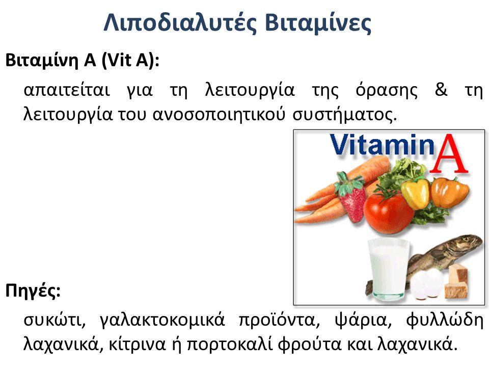 Λιποδιαλυτές Βιταμίνες